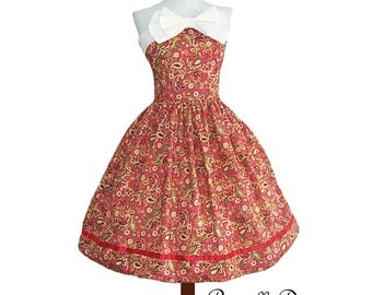 Bizzy Paisely Tea Dress Custom in your size