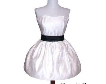 CUSTOM White Katy Bubble Party Dress