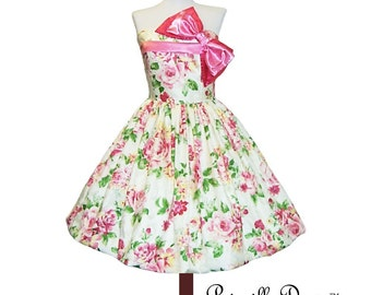 Reserved for Robbin Pretty Pop Party Bow Dress CUSTOM in YOUR size