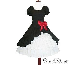 Custom made in Your size Lolita Pop Black Dress