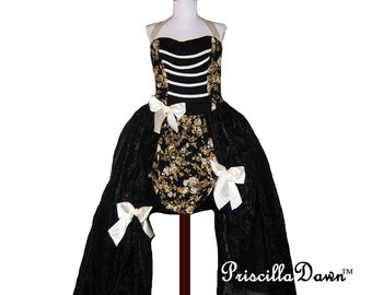 Custom in your size Steampunk Fantasy Inspired Special Occasion Gown Mascarade Ball