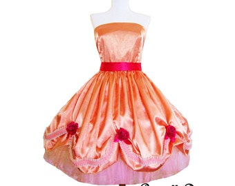 Peachy Princess Gala Gown Custom made to your measurements and colors