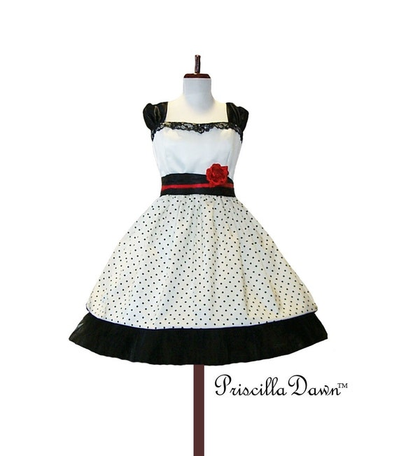 Custom in your Size Rockabilly Sweet Dress Alternative Wedding Dress