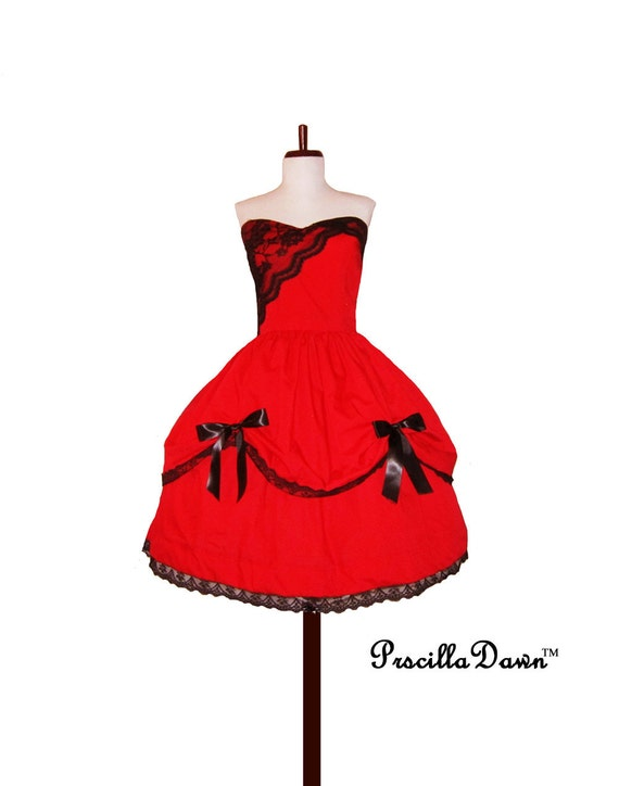 Simply Elegant Doll Inspired Party Dress Custom in Your Size and Color Choice