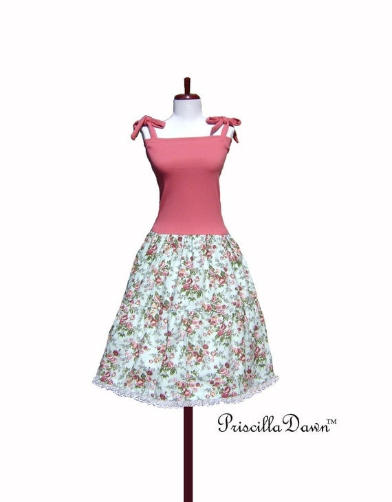 Lolita Rose Tea jumper with full skirt and Lace