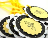Reserved Custom Order for janicegilmer Bee Happy Blank Gift Tags Set of 12
