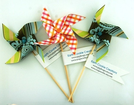 Pinwheel Business Cards Promotional Products Place Cards Party Favors