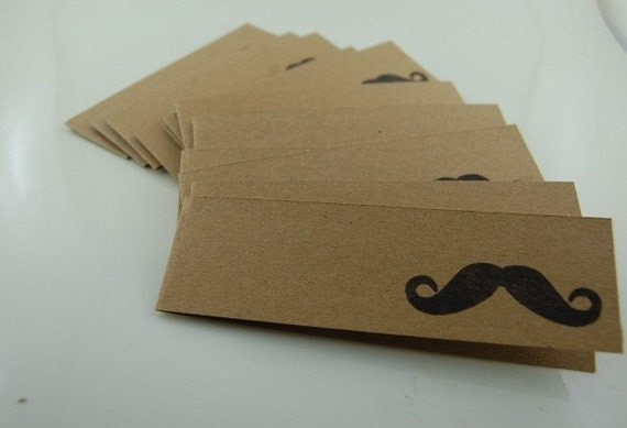 Itty Bitty Mustache Thank You Cards Set of 12