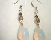 Moonstone and silver earrings - Moon Shadow