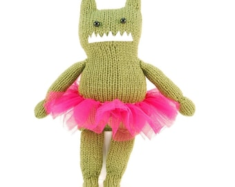 Olivia the Audacious Monster Knitting Pattern Pdf INSTANT DOWNLOAD