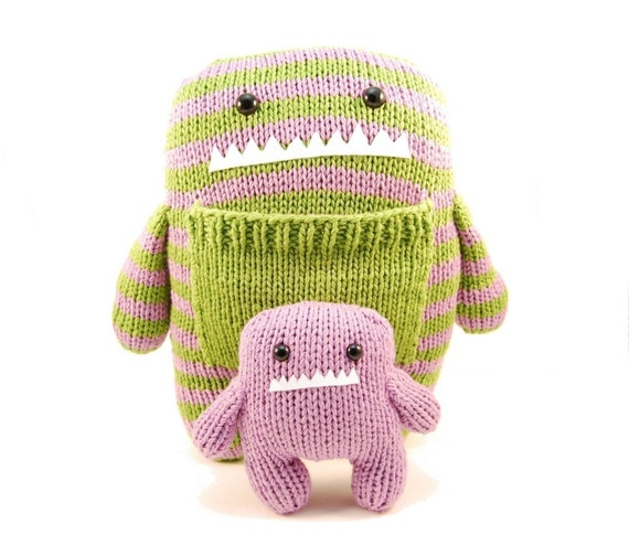 Daphne and Delilah the Momma and Baby Monster Knitting Pattern Pdf