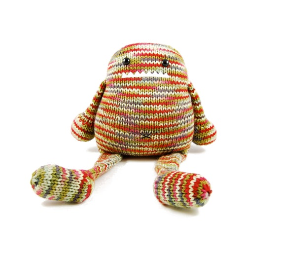 Iris the Gourmet Monster Knitting Pattern Pdf INSTANT DOWNLOAD