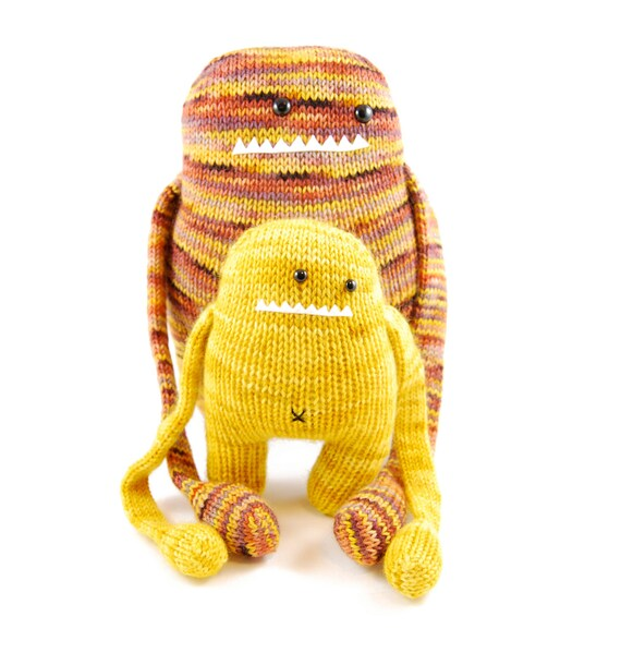 NEW Ursula and Uma the Understanding Monsters Knitting Pattern Pdf INSTANT DO...