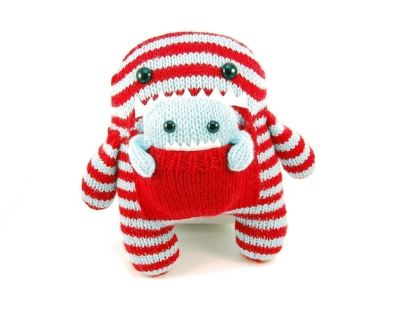 NEW Daphne and Delilah the Momma and Baby Monster Knitting Pattern Pdf