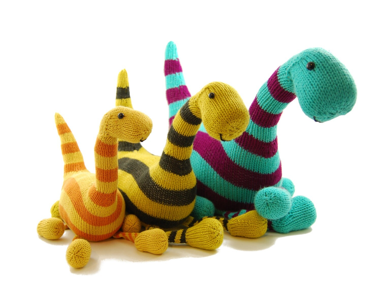 Basil the Boogie-Woogie Brontosaurus Knitting Pattern Pdf INSTANT DOWNLOAD fr...