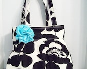 RESERVED FOR cmacgibbon (Deposit) 10 Large Pleated Totes in Alexander Henry's Sofia w/Removable flower