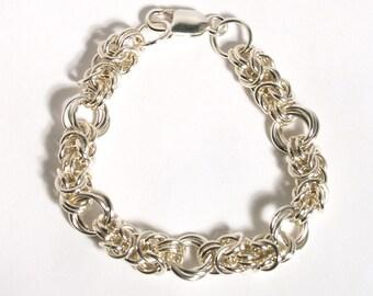 Sterling Silver Byzantine Rose Bracelet