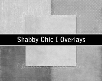 Overlays - Shabby Chic I Overlay Paper Pack - Commercial or Personal Use Printable Digital Scrapbooking Background