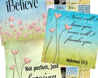 NEW - CHRISTian Scripture 4 (.75 x .83 scrabble inch) Images Digital Collage Sheet  Sale - printable stickers magnet button