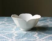 Vintage White Lotus Bowl 6 Inches