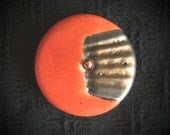 Ceramic Buttons: Pin Shank Red, Black and Gold