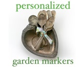 Personalized Vintage Silverware Garden Marker Stamped Plant Stake (E0244)