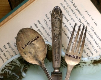Vintage Silverware Garden Marker Set of Three (E0325)