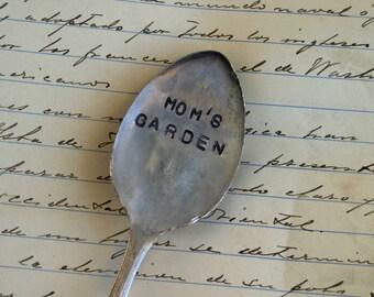 Moms Garden Stamped Spoon Garden Marker Vintage Silverware (E0224)