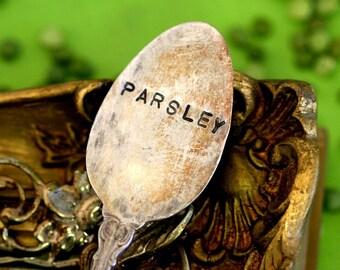 Vintage Spoon Plant Marker Parsley Garden Marker (E0272)