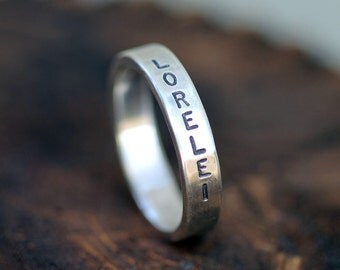 Personalized dad ring (E0233)