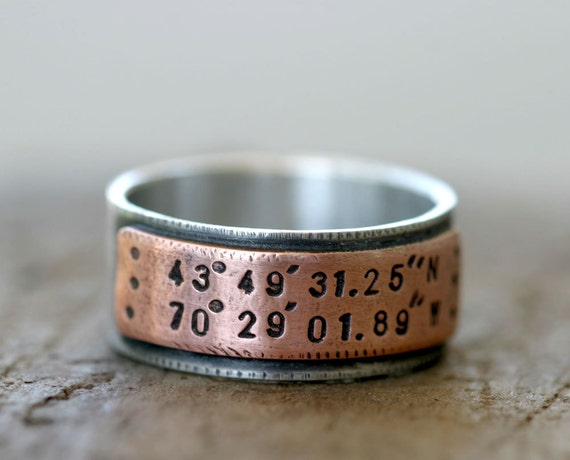ring because you could make it so personal with the coordinates of where you get marriedwhere you first met etc latitude longitude wedding ring - Coolest Wedding Rings