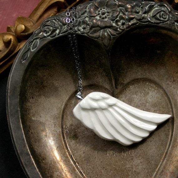 Porcelain Wing Necklace