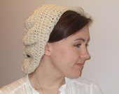 Cream Slouch Hat