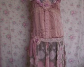 Slip dress..silk cami makeover..upcycled..bridesmaid..wedding..eco friendly..pink