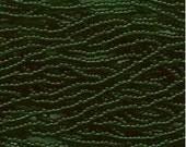 Czech Seed Beads 11/0 Transparent Green 31052 6 Strand Hank Glass Seed Beads, Precoisa Beads, Round Seed Beads, Rocaille Bead, Glass Bead