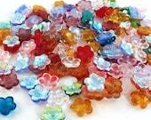 Czech Flower Beads 16mm Colorful Mixture 17267  Flower Beads Assortment, Jablonex Glass Beads, Large Glass beads, Jewelry Beads