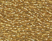 Czech Seed Beads 11/0 Straw Gold Silver Lined 31021 (6 strand hank) Glass Seed Beads, Precoisa Beads, Round Seed Beads, Rocaille Bead