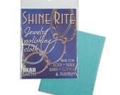 Shine-Rite Polishing Cloth 41430 For Silver, Gold, Brass, Copper, Metal Cleaner, Beadsmith Polishing Cloth, Tarnish Cleaner, Tarnish Cloth