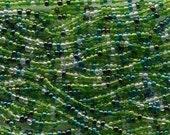 Czech Seed Beads 11/0 Evergreen Mix 17698 (6 strand hank) Glass Seed Beads, Precoisa Beads, Round Seed Beads, Hank Seed Bead, Rocaille Beads