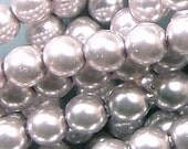 Czech Glass Pearl Beads 4mm Silver 17639 , 4mm Round Beads, 4mm Pearl Bead, Preciosa Bead, Czech Pearl Bead, Silver Czech Bead, Silver Bead