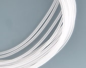 2mm Hollow Rubber Tubing Clear Frost 41016 (5pks of 5yds, 25yds total)