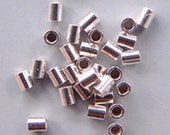 2mm Crimps Sterling Silver 42110 (25) For up to .020in Wire Tubular Tube