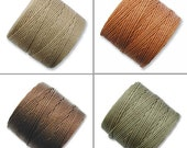 S-Lon Bead Cord Neutrals Mixture 0.5mm Diameter 28574 (4 spools) Neutrals S-lon, Braiding Cord Brown Crochet Thread, Macrame Cord, Superlon