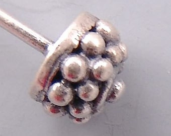 Bali Sterling Silver Dotted Headpins B584 (4)