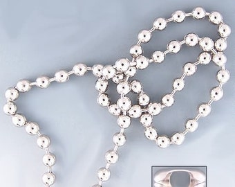 2.38mm Ball Chain 42232 (10 feet, 8 connectors) Silver Color