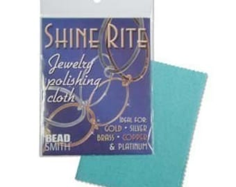 Shine-Rite Polishing Cloth 41430 For Silver, Gold, Brass, Copper, Metal Cleaner, Beadsmith Polishing Cloth, Tarnish Cleaner, Tarnish Cloth