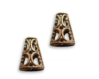 Filigree Cones Vintaj Natural Brass 61212 (2)