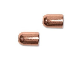 9mm Bullet End Caps ID 4mm Real Copper 41551 (2)
