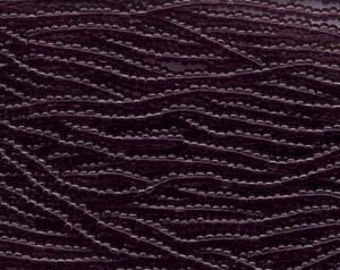 Czech Seed Beads 11/0 Transparent Amethyst 31006 6 Strand Hank Purple Glass Seed Beads, Precoisa Beads, Round Seed Beads, Rocaille Bead