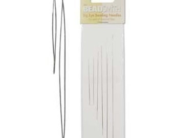 Big Eye Needle Assortment 6 Needles 41431 (2in, 3in, 4in and 5in) Easiest to Thread! Craft Needles, Beading Needles, Beadsmith Needles